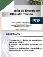 TRANSMISSÃO DE ENERGIA EM ULTRA ALTA TENSÃO