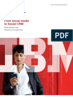 """From social media to Social CRM"". What customers want. The first in a two-part series"