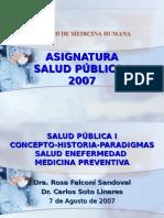 Clase 1 - Concepto, Historia y Paradigm As d La Salud Publica