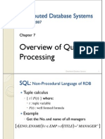 07. Overview of Query Processing