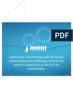 EMPLOYEES' PERCEPTIONS AND ATTITUDES ON PERFORMANCE APPRAISAL