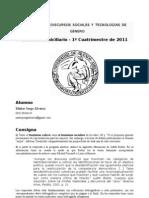 IDENTIDADES, DISCURSOS SOCIALES Y TECNOLOGÍAS DE GÉNERO Examen domiciliario