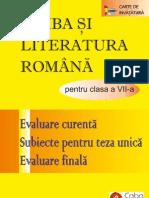 Limba şi Literatura Română pentru clasa a 7-a