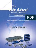AirLive WMM-3000R Manual