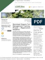 NSTARMunicipal Organic Turf Management Training Project — Registration Deadline «