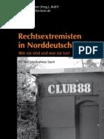 Broschuere Rechtsextremisten in Norddeutschland