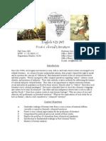 English 423 _WI_ Post-Colonial Literature