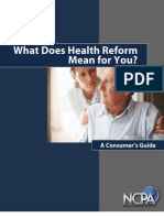 What Does Health Reform Mean for You a Consumer's Guide