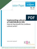 Implementing cultural provisions of CARIFORUM-EU EPA