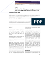 Clinical Evaluation of the Efficacy and Safety of a Constant