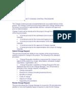 Project Change Control Procedure