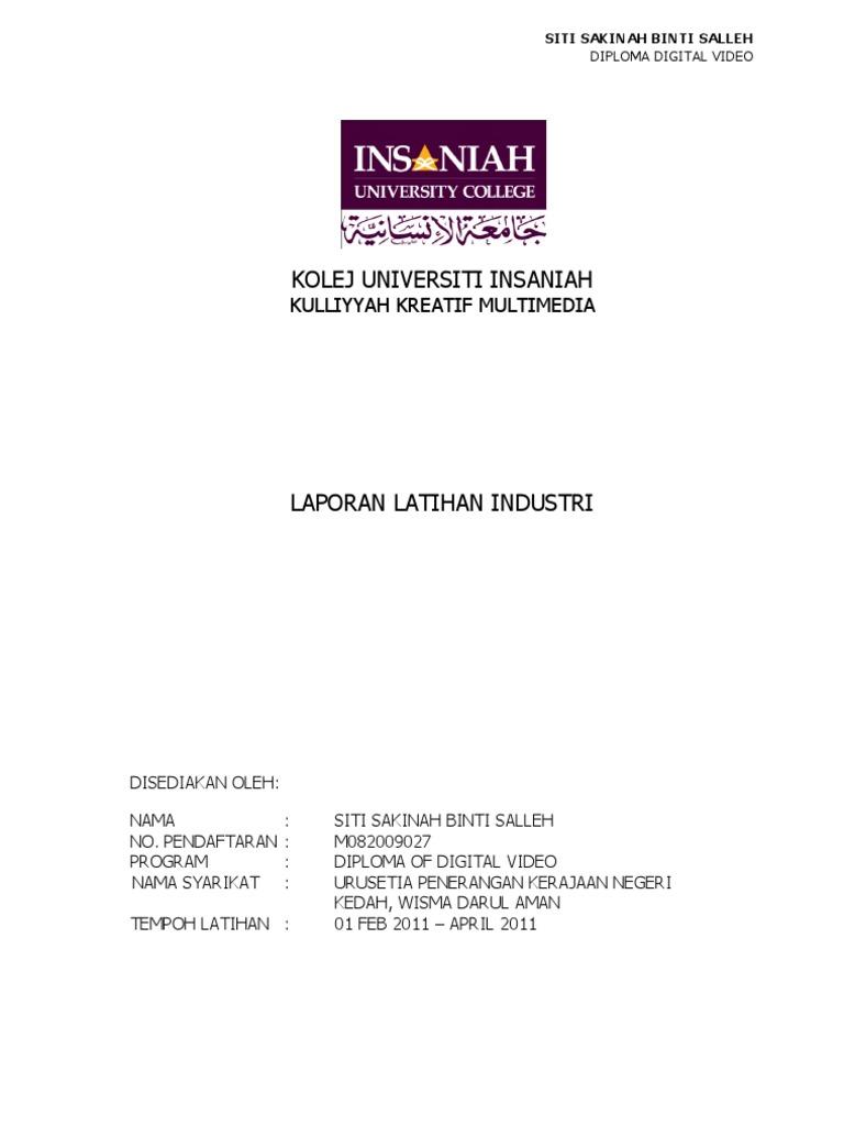 Contoh Laporan Latihan Industri Ukm Jawkosa