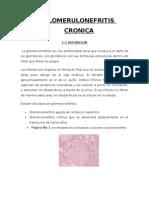 GLOMERULONEGRITIS CRONICA simposio