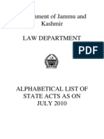 Jammu Kashmir Acts