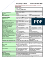Design Spec Sheet 2010
