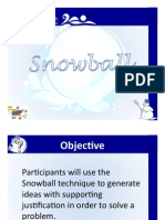 Snowball Discussion Technique October 2010 Website FINAL