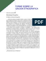 Informe Sobre La Investigacion Etnografica