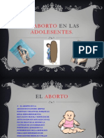EL ABORTO en LAS ADOLESENTES Presentacion Entornos Virtuales