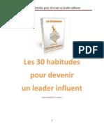 Habitudes Pour Devenir Un Leader Influent