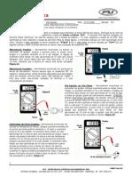 016-06 - Testes do sinais elétricos do veículo utilizando um multímetro