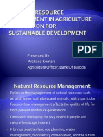 Natural Resource Management in Agriculture Production for Sustainable
