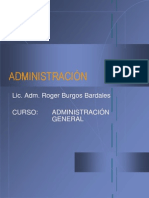 1ra Semana (1er Dia)Administracion General
