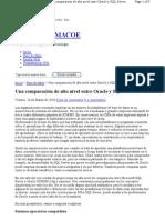 Una Comparacion de Alto Nivel Entre Oracle y SQL Server