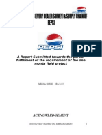 Summer Internship Report - Pepsi
