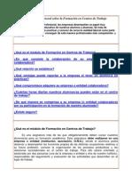 Información general sobre la Formación en Centros de Trabajo