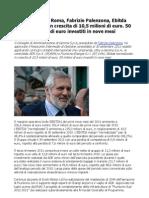 Aeroporti di Roma, Fabrizio Palenzona, Ebitda normalizzato in crescita di 10,5 milioni di euro. 50 milioni di euro investiti in nove mesi