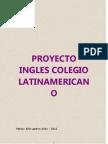 Proyecto Ingles Colegio Latin America No