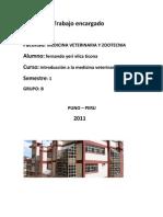 Informe Del Viaje Al Sentro de Investigacion en Chuquibambilla