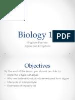 Algae and Bryophyta
