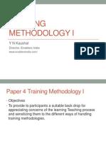 ISTD Training Methodology I August 20 2011