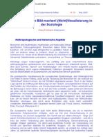 """Klaus Feldmann (Hannover)- Du sollst dir kein Bild machen! (Nicht)Visualisierung in der Soziologie"""""""