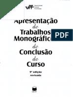 Apresentação de Trabalhos Monográficos UFF