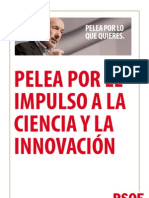 Pelea por EL IMPULSO A LA CIENCIA Y LA INNOVACIÓN