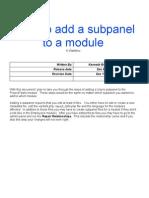 SugarCRM Edit or Create Subpanels