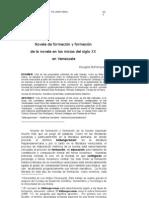 Novela de formación y formación de la novela en los inicios del S XX en Venezuela - Bohórquez