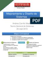 1. Mejoramiento y Diseño de Sistemas