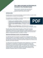FISIOPATOLOGÍA E IMPLICACIONES NUTRICIONALES EN EL PACIENTE POLITRAUMATIZADO