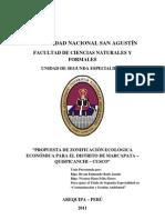 PROPUESTA DE ZONIFICACIÓN ECOLÓGICA ECONÓMICA PARA EL DISTRITO MARCAPATA - QUISPICANCHI - CUSCO