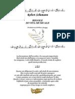 Regole di vita musicale di Robert Schumann