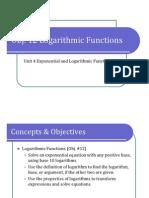 Obj. 12 Logarithmic Functions (Presentation)