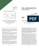 Checkmate II .22lr Manual.