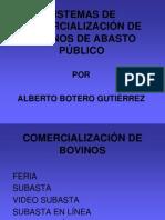 COMERCIALIZACIÓN DE BOVINOS