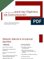 APUNTES LEY COMUNICACION