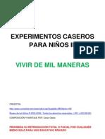Experimentos Caseros Para NiÑos III-Vivir de Mil Maneras