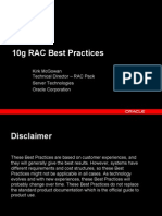 Oracle RAC 10g Best Practices