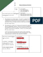 Act Practice Run on Sentences